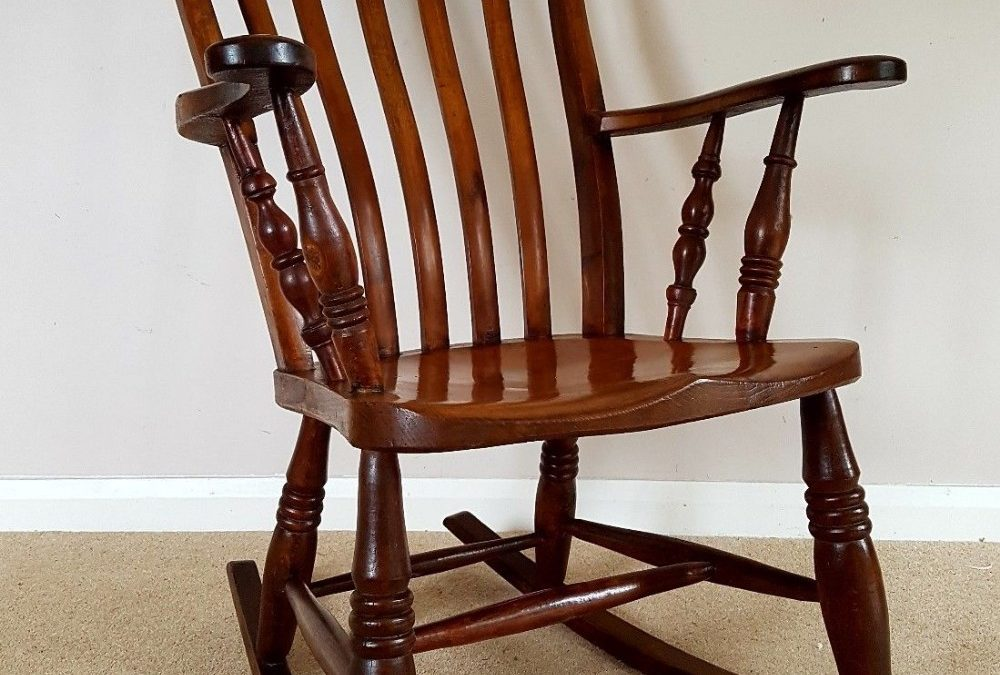 Restoring an antique wooden rocking chair